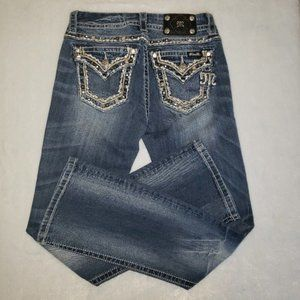 Miss Me size 26 Easy Boot distressed Jean